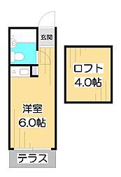 ナインフラット[1階]の間取り
