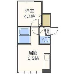 ローヤルハイツ栄[2階]の間取り