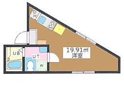 東京都大田区多摩川1丁目の賃貸マンションの間取り