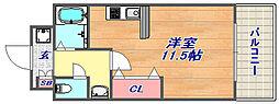 ミ・アモーレ六甲道[401号室]の間取り