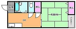 メゾン川奈[3階]の間取り