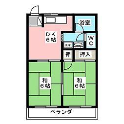 コーポ岡田[2階]の間取り