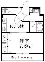 バス 遠鉄バス三島町下車 徒歩3分の賃貸マンション 1階1Kの間取り