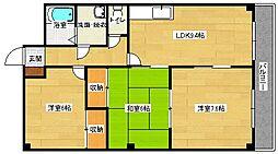 広島県広島市安佐南区伴東8丁目の賃貸アパートの間取り