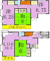 [タウンハウス] 千葉県松戸市稔台7丁目 の賃貸【千葉県 / 松戸市】の間取り