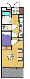 レオパレスドゥジェーム鳴尾[2階]の間取り
