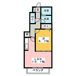 ル レーヴ[1階]の間取り