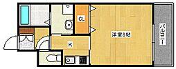 カーサ中加賀屋[2階]の間取り