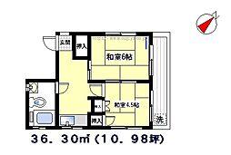 矢島ビル[301号室]の間取り