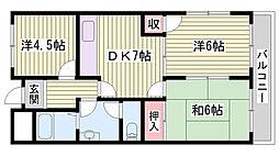 JR東海道・山陽本線 明石駅 バス12分 イオン西神戸前下車 徒歩5分の賃貸マンション 2階3DKの間取り
