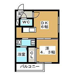 Vivace N4(ビバーチェ)[4階]の間取り