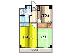 埼玉県さいたま市桜区西堀9丁目の賃貸マンションの間取り
