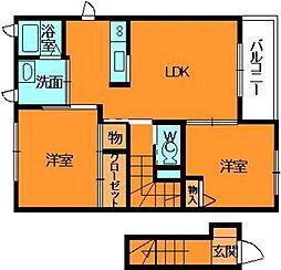 シャーメゾン秋山A[2階]の間取り