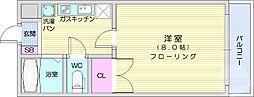 仙台市営南北線 北四番丁駅 徒歩15分の賃貸マンション 3階1Kの間取り