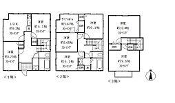 [一戸建] 東京都練馬区豊玉上1丁目 の賃貸【/】の間取り