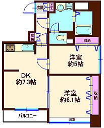 akira quattro[802号室]の間取り