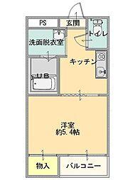 五智荘B[203号室]の間取り