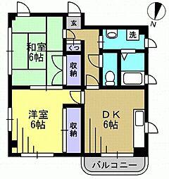 ANNEX SHIMADA 170123k2[301kk号室]の間取り