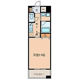 カーサビアンカ東岡崎[713号室]の間取り