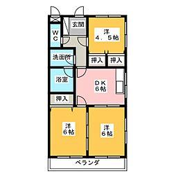 アクトロイヤルメゾン菅田[1階]の間取り
