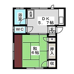 カメイ荘[2階]の間取り
