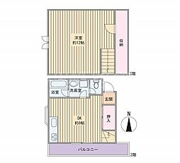 大谷コーポ[2階]の間取り