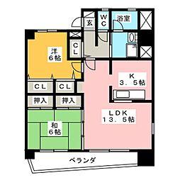 メゾン・ド・ミヤビ[9階]の間取り