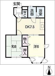 ロジュマンNODA[1階]の間取り