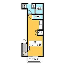 フィアス松倉[1階]の間取り