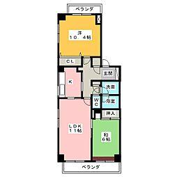パークノヴァ猪高台[3階]の間取り