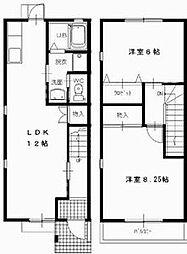 [タウンハウス] 愛知県豊橋市飯村南4丁目 の賃貸【/】の間取り