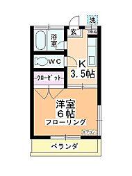 第二田辺コーポ[108号室]の間取り