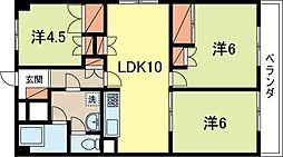 東京都新宿区戸山2丁目の賃貸マンションの間取り