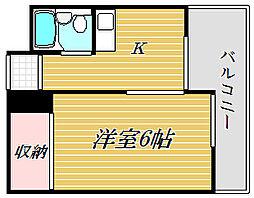 東京都江東区森下3丁目の賃貸マンションの間取り