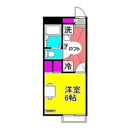 KEI5[208号室]の間取り