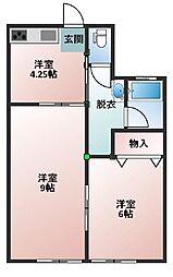 小笠原荘[102号室]の間取り
