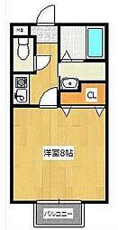 ハッピネスオグラ[2階]の間取り