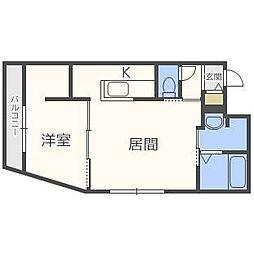 新築仮)ラヴェーラ福住[2階]の間取り