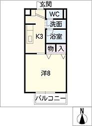 サープラスワン三ツ井[2階]の間取り