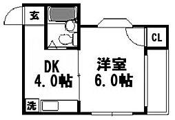 大阪府大阪市西淀川区姫島1丁目の賃貸マンションの間取り