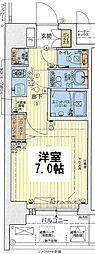 Osaka Metro長堀鶴見緑地線 ドーム前千代崎駅 徒歩3分の賃貸マンション 9階1Kの間取り