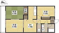広島県広島市南区翠の賃貸アパートの間取り