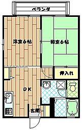 K9ハイツ[1階]の間取り