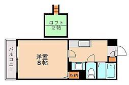 福岡県福岡市城南区南片江2丁目の賃貸マンションの間取り
