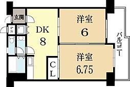 コンフォート北澤[2階]の間取り