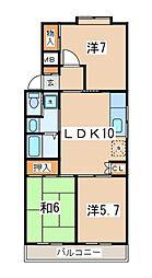 ウエストヒル湘南台[2階]の間取り