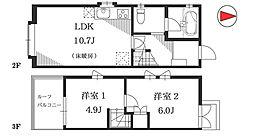 [テラスハウス] 東京都目黒区駒場1丁目 の賃貸【/】の間取り