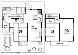 [一戸建] 東京都東大和市仲原4丁目 の賃貸【東京都 / 東大和市】の間取り
