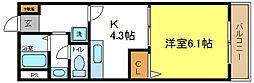 メゾンプルミエール[1階]の間取り