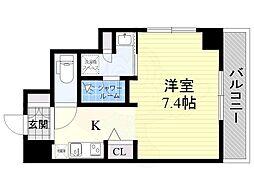DAIWA RESIDENCE IBARAKI 6階ワンルームの間取り